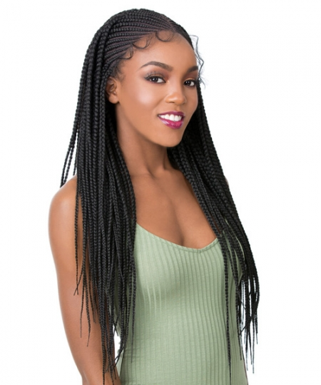 It's a wig Synthetic  Lace Front - MICRO CORNROW BOX BRAID