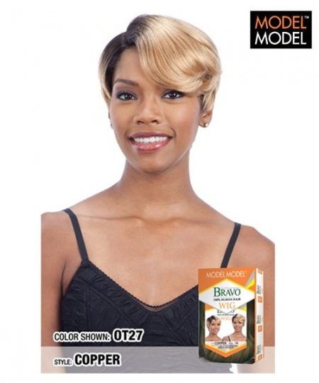Model Model BRAVO Human Hair Full Wig - COPPER