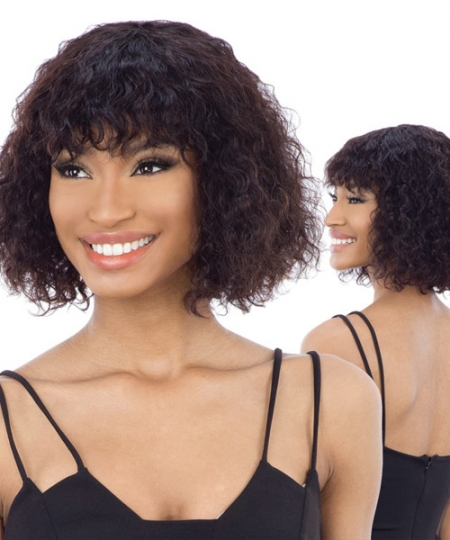Shake N Go Naked Brazilian Natural Unprocessed Human Hair Full Wig -  WHITNEY