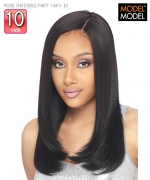 Model Model Hair Piece - INVISIBLE PART YAKY 10 POSE Human Hair Piece