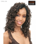 Model Model Weave Extention - CORAL CURL
