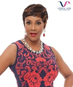 Vivica Fox Full Wig HH-CARITA - human hair PURE STRETCH CAP Full Wig