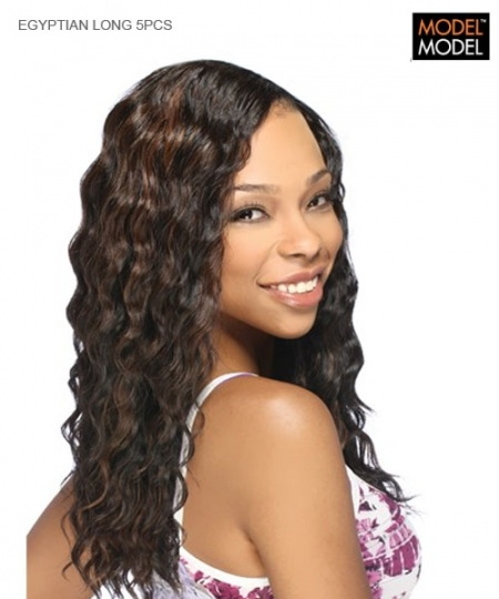 Model Model Weave Extention - EGYPTIAN LONG 5PCS  Human Hair Weave Extention